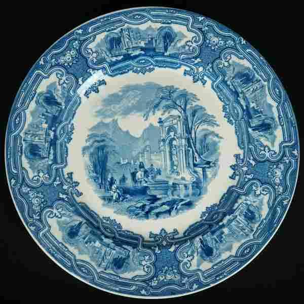 English Staffordshire Plate Genoa Pattern c 1920