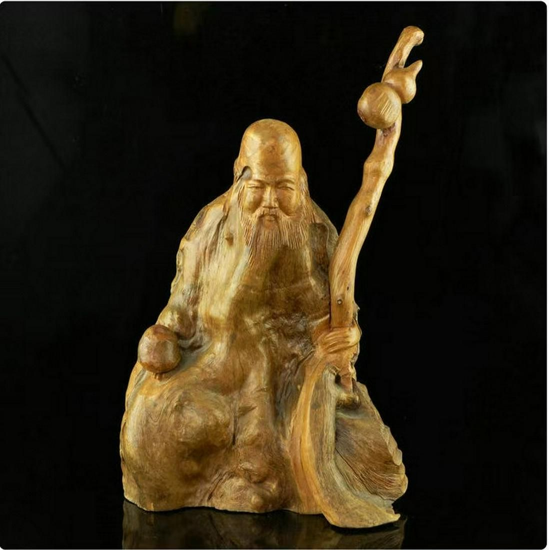 Boxwood Shouxing Root Carving in the Late Qing Dynasty