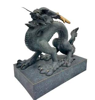 Exclusive bronze sculpture of Lung - Divine Chinese