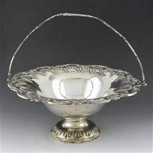 th century Belgian Rococo sterling silver fruit