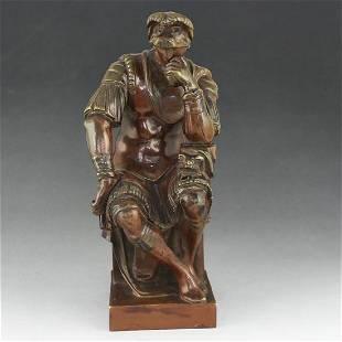 20th Century French Pure Bronze Sculpture Decoration