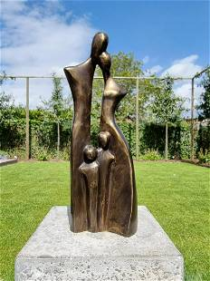 Sculpture - Family of four - Bronze