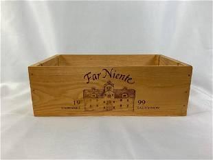 Far Niente Wooden Wine Crate
