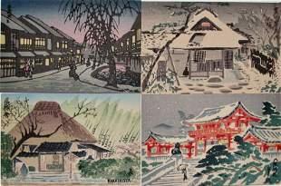 Tokuriki: Four Postcards of Kyoto