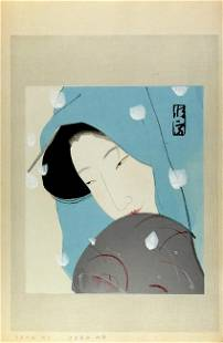 Kitano TSUNETOMI, Woman in snow