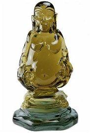 TOP Murano glass Sculpture Buddha signed