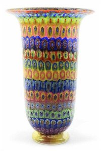 Rossetto Amedeo - Top Murano glass vase Mosaico signed