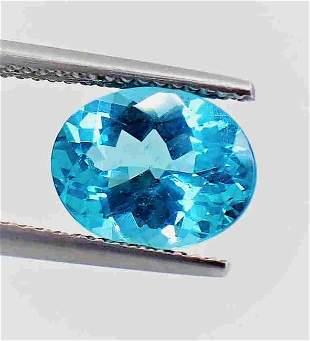Paraiba Color Apatite 8 x 10 MM Certified - 2.80 ct