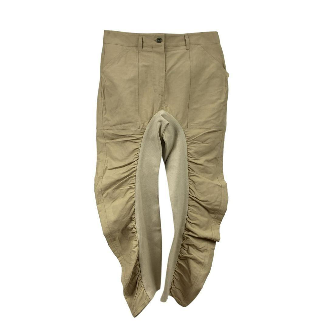 Stella McCartney Beige Tina Wrinkled Trousers Size 38