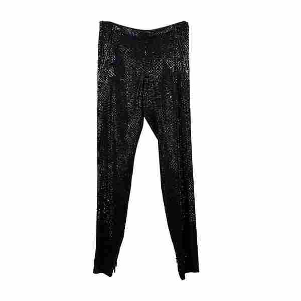 Gucci Beads and Sequins Embellished Silk Trousers Pants