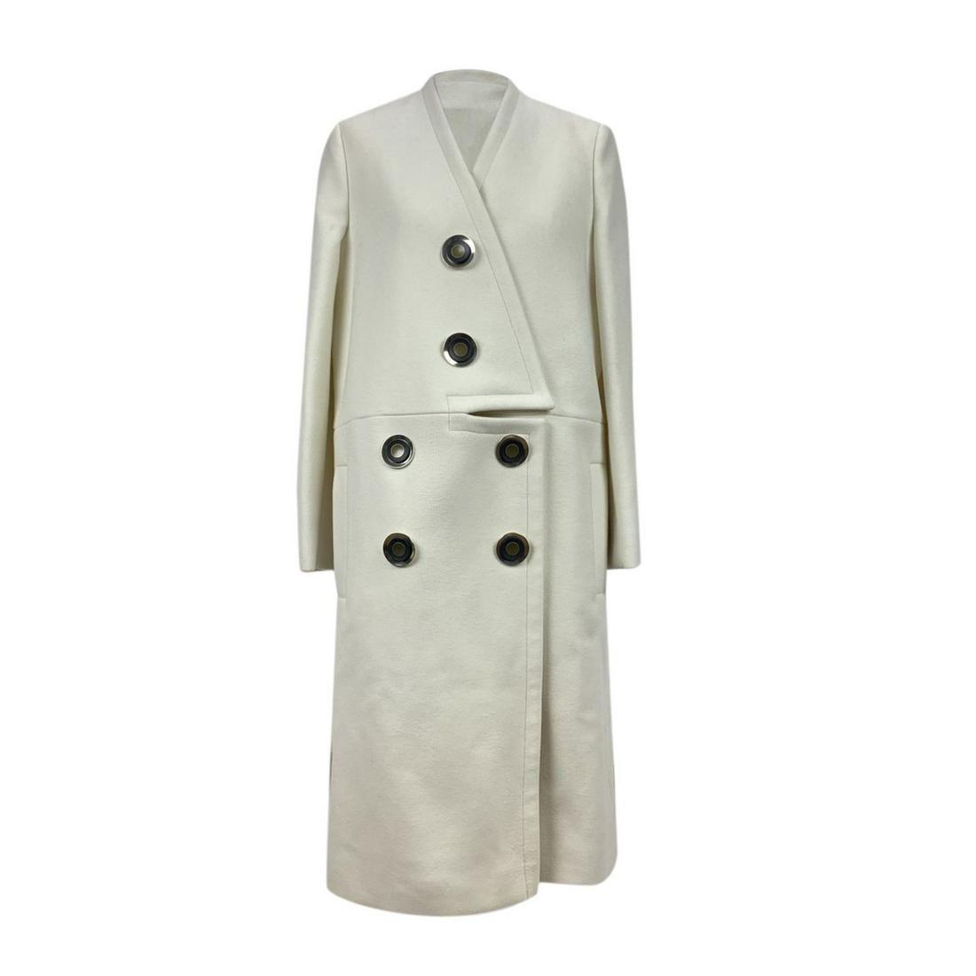 Stella McCartney White Wool Blend Susie Coat Size 40 IT