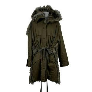 Stella McCartney Military Green Parka Hooded Jacket