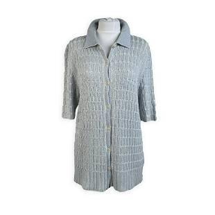 De Carlis Roma Vintage Light Blue Cotton Knit Cardigan