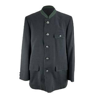 Steinbock Vintage Grey Wool Traditional Men Jacket Size