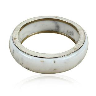 Montblanc Sterling Silver White Les Aimants Bangle