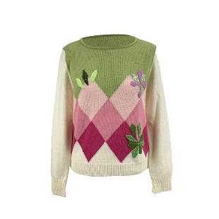 Madi Roma Vintage Wool Blend Sweater with Sequins and