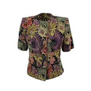 Top Alta Moda Roma Vintage Floral Embellished Jacket