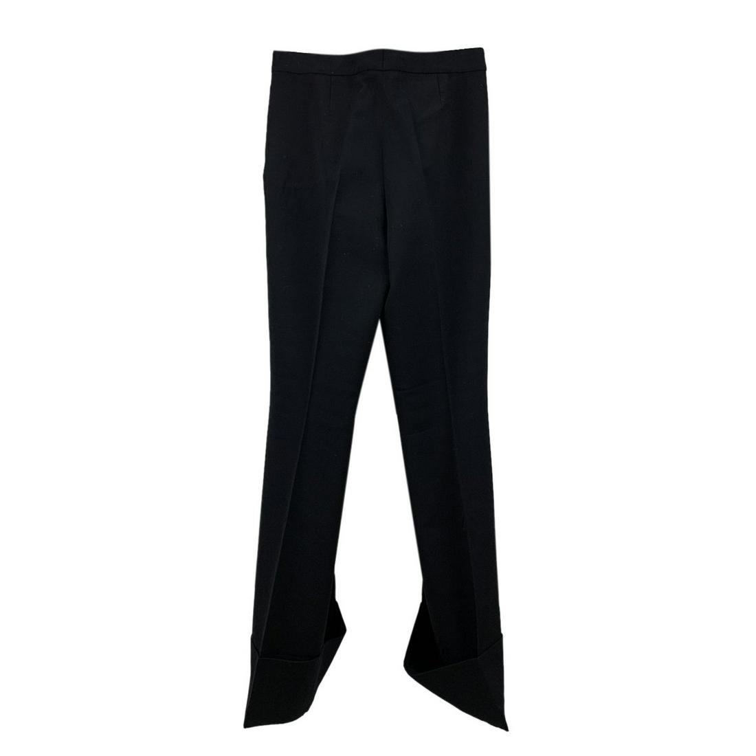 Stella McCartney Black Wool Wide Leg Trousers Size 40