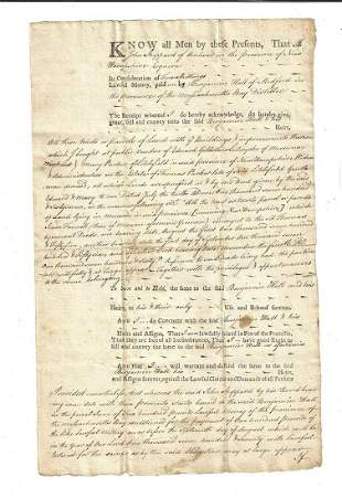 769 Colonial Deed Medford Rum Distiller