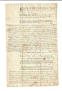 1769 Colonial Deed Medford Rum Distiller