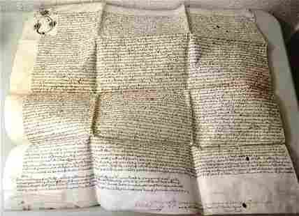 1670 English Vellum Deed Three Nuns London