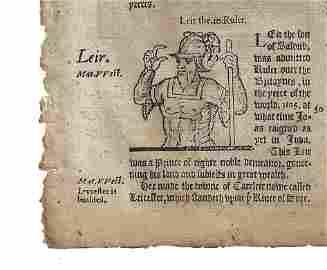 1577 Leaf Holinshed King Lear Shakespeare