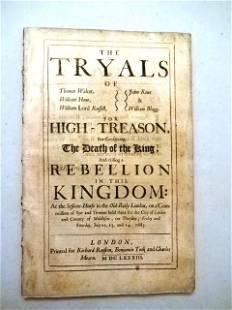 1683 The Tryals for High Treason Rebellion