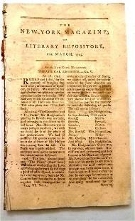 1795 New York Magazine Columbia University