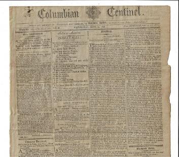 1796 Boston Newspaper Samuel Adams Address