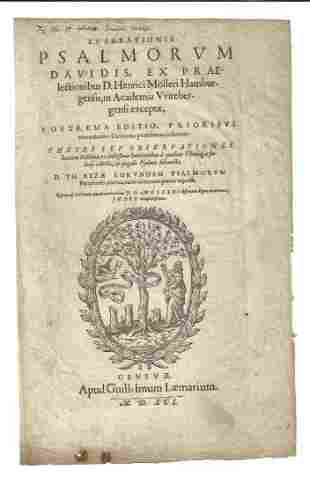 1591 Title Leaf from Psalms of David