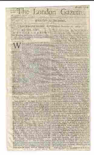1687 London Gazette Proclamation Lotteries