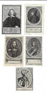 18th C Group of Portraits Notables