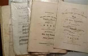 Large Group 19th C English Sheet Music