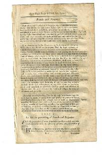 1771 Colonial Statutes New Hampshire Fraud