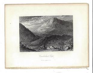 1872 Steel Engraving Cumberland Gap