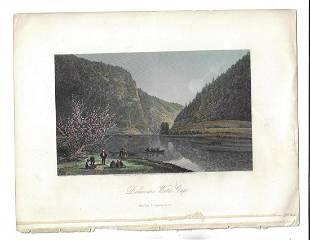 1873 Steel Engraving Delaware Water Gap