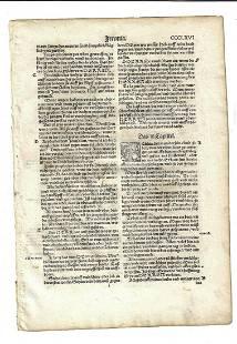 1534 German Bible Leaf Initials Jeremiah