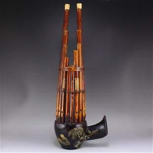 Bamboo Hardwood Lacquerware Musical Instrument - Sheng