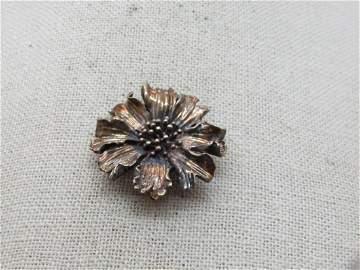Vintage Tiffany's Sterling Marigold Blossom Brooch,