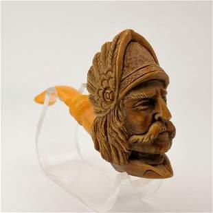 Asterix Viking,Big Size Head,Hand carved Meerschaum