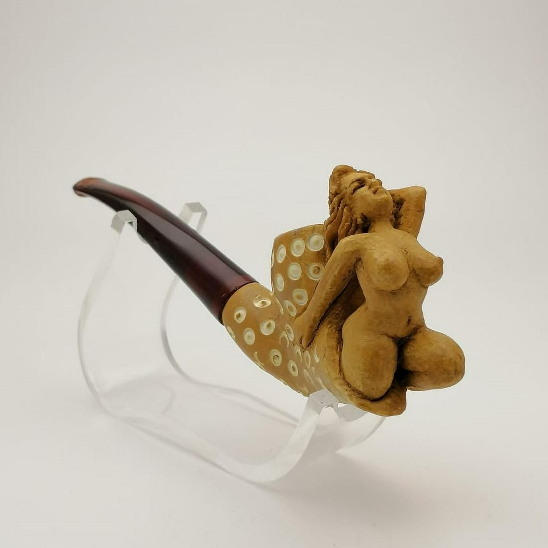 Nude Lady,Hand carved Meerschaum Pipe.