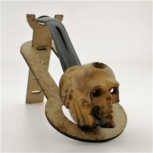 Devil Skull Meerschaum Cigarette Holder