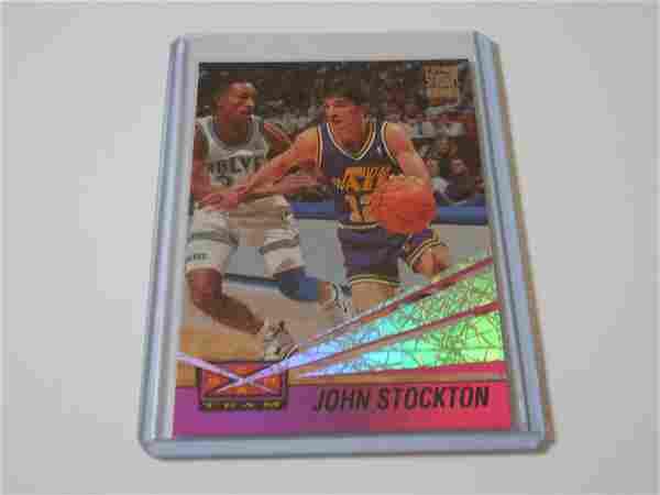 1993-94 TOPPS STADIUM CLUB JOHN STOCKTON BEAM TEAM