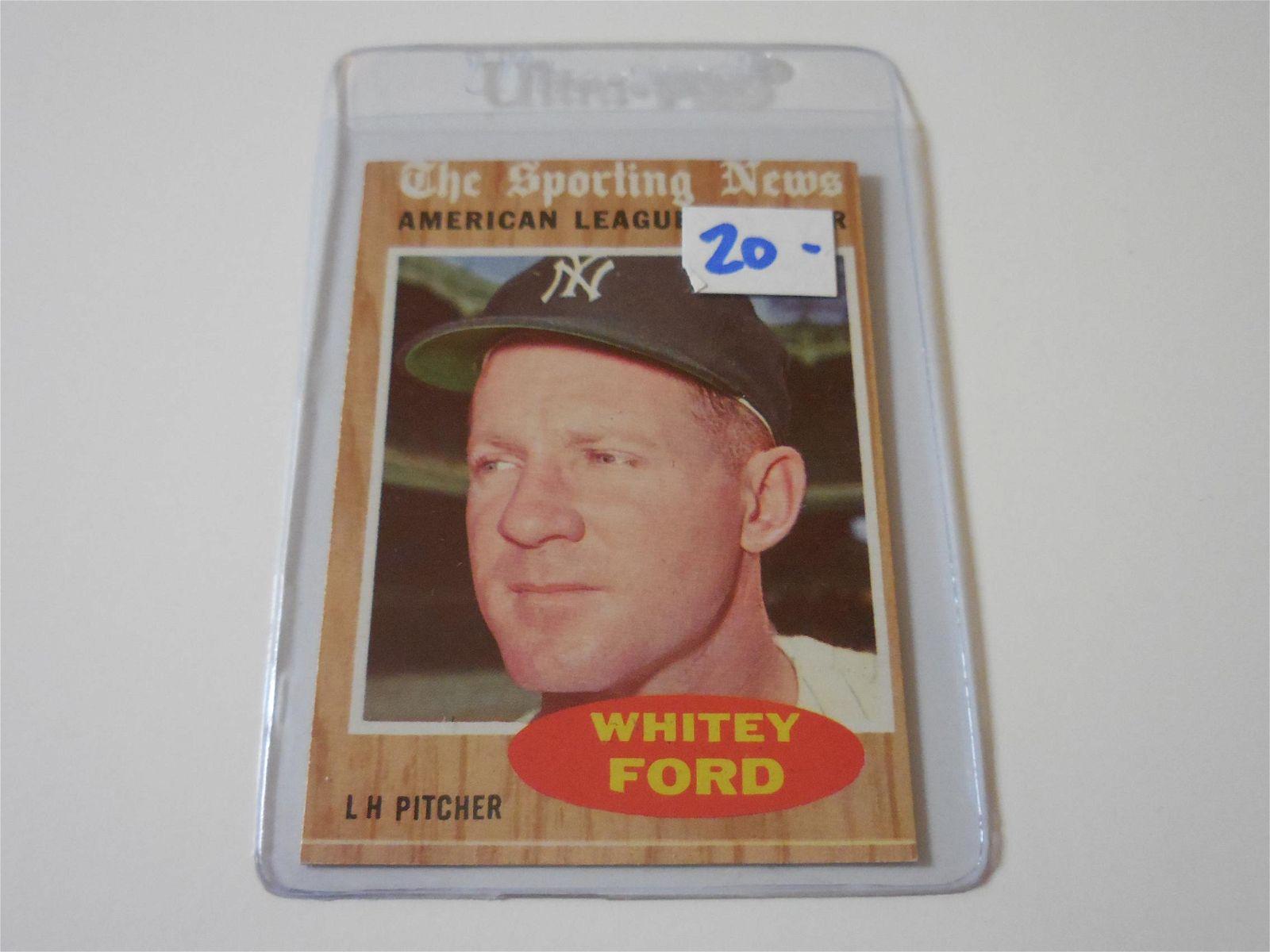 1962 TOPPS BASEBALL #475 WHITEY FORD ALL STAR