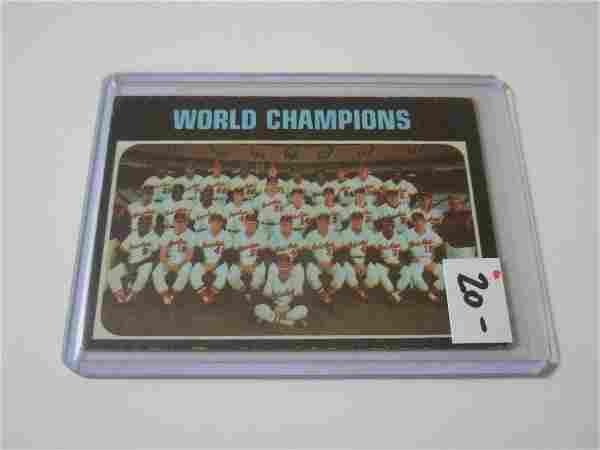 1971 TOPPS BASEBALL #1 BALTIMORE ORIOLES WORLD
