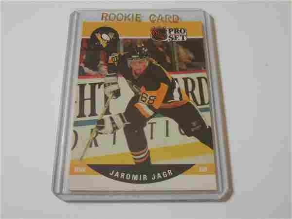 1990 PRO SET HOCKEY #632 JAROMIR JAGR ROOKIE CARD