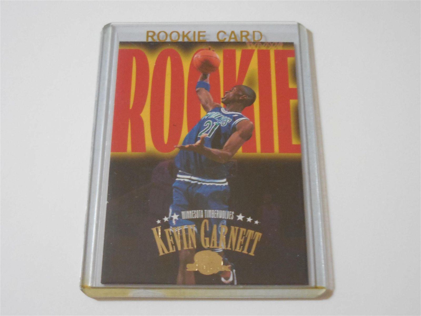 1995-96 SKYBOX PREMIUM KEVIN GARNETT ROOKIE CARD