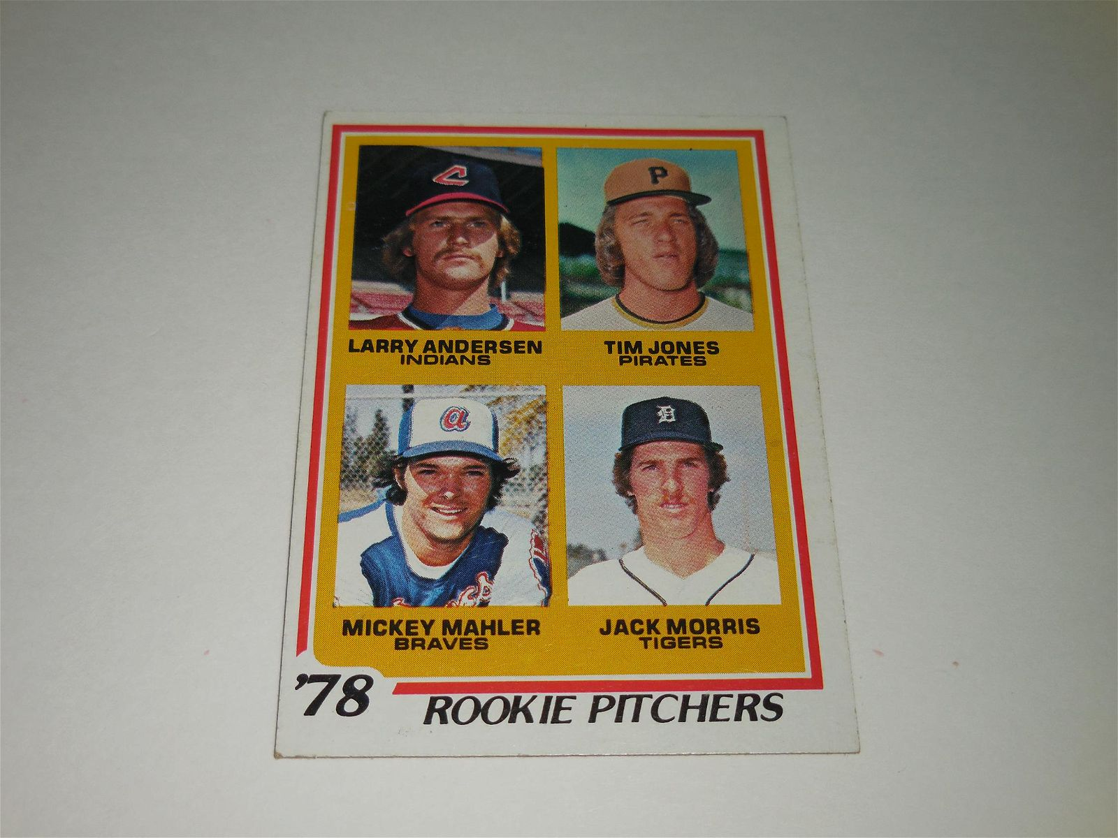 1978 TOPPS BASEBALL JACK MORRIS ROOKIE CARD.