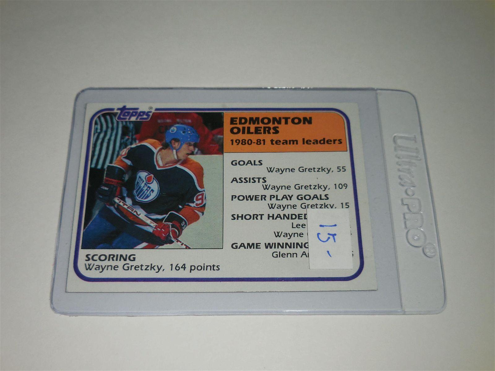 1981 TOPPS HOCKEY #52 EDMONTON OILERS WAYNE GRETZKY