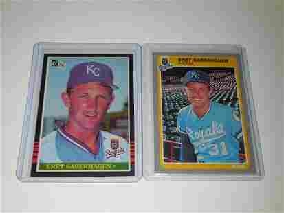 1985 DONRUSS & FLEER BRET SABERHAGEN ROOKIE CARD LOT